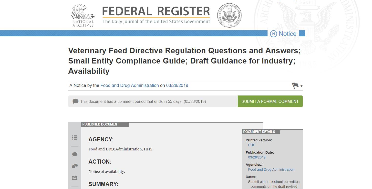 Veterinary Feed Directive (VFD) Regulation Q&A Update | GVL