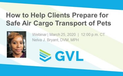 Q&A and Resources from Safe Air Cargo Transport of Pets Webinar